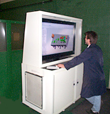 Large screen mobile CAD station